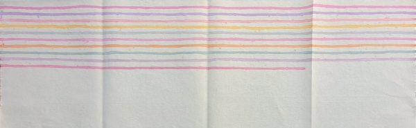 Giorgio Griffa, Linee orizzontali, 1974, acrilico su tela, cm. 55x179