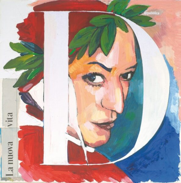 Sandra Rigali, La nuova vita, 2020, tecnica mista su tela, 30x30 cm. Ph. Ryo Hayashida