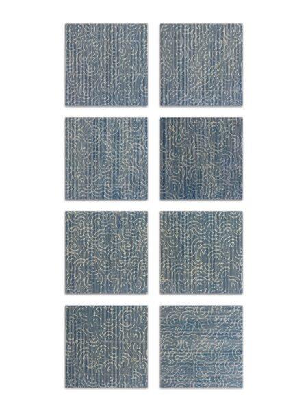 Paolo Masi, Composizione, 2006, tecnica mista su cartone, 8 elementi, cm 15x15 cad.