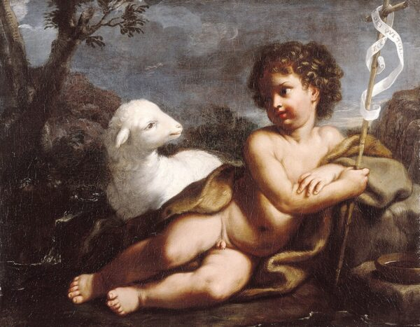 Elisabetta Sirani, San Giovannino nel deserto, olio su tela, 56 x 66 cm