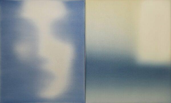 Juan Eugenio Ochoa, Iconica analitica (serie), 2019, olio su tela, dittico, cm 60x100