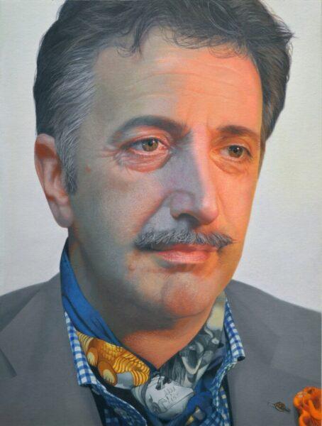 Gabriele Grones, Alberto, 2016, olio su tela, cm 40x30. Courtesy l'artista e Boccanera Gallery, Trento e Milano.